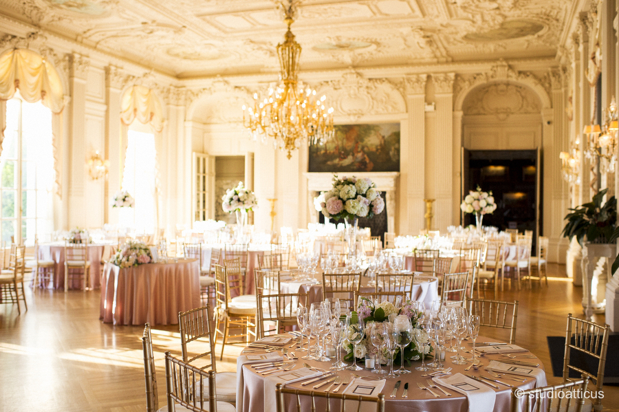 Elegant Wedding Reception At Rosecliff Mansion In Newport Ri