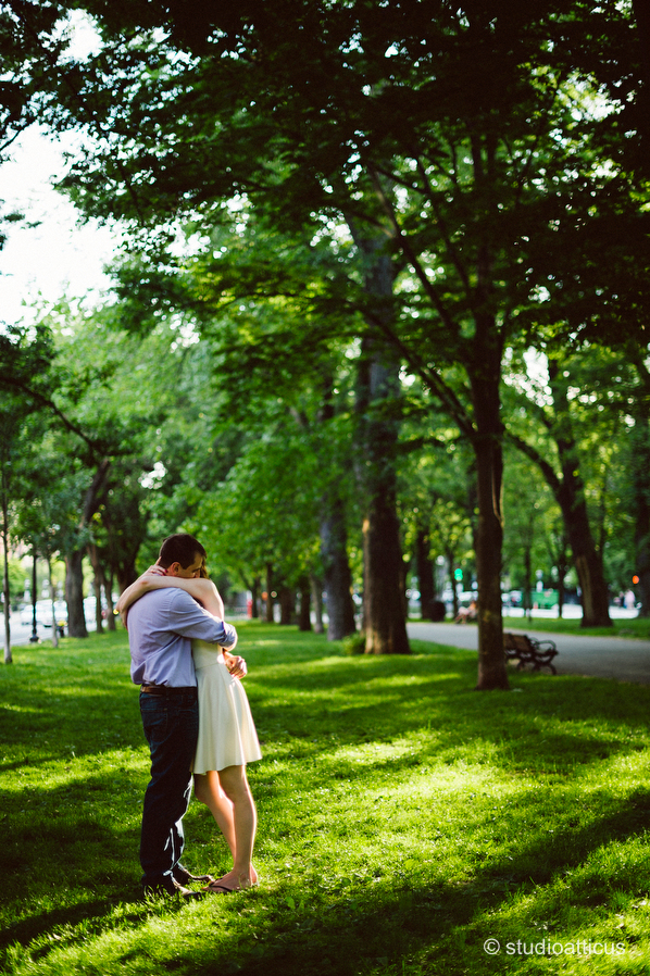 back bay engagement photographs
