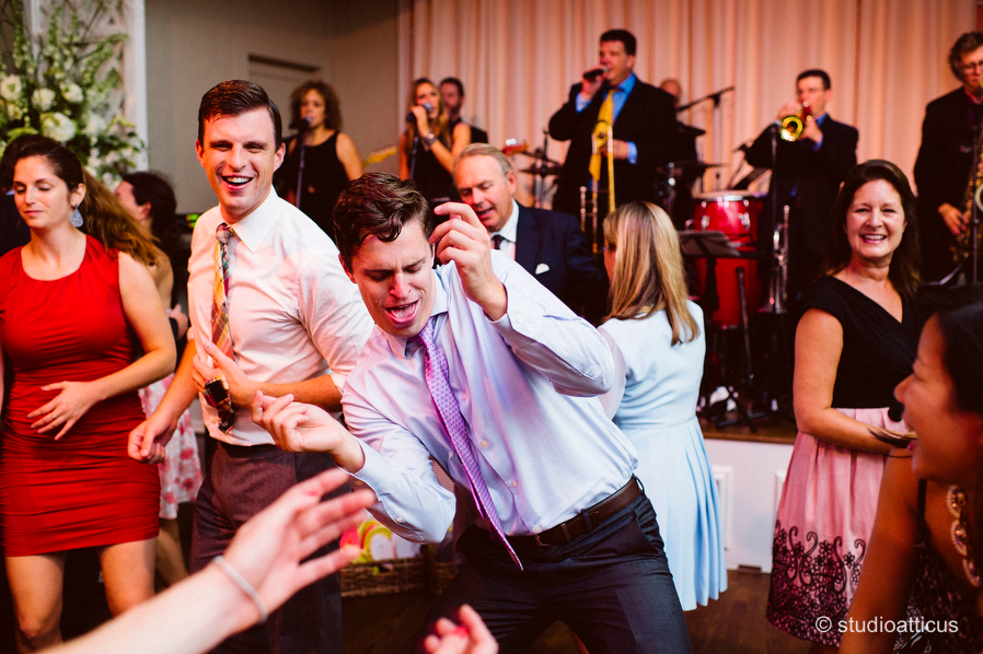 guests enjoy a fun reception at a Hopple Popple wedding at the Wianno Club in Osterville, MA