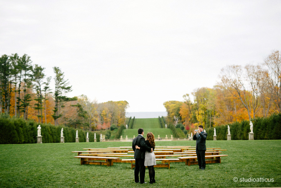 crane estate ceremony set up at the grand allee
