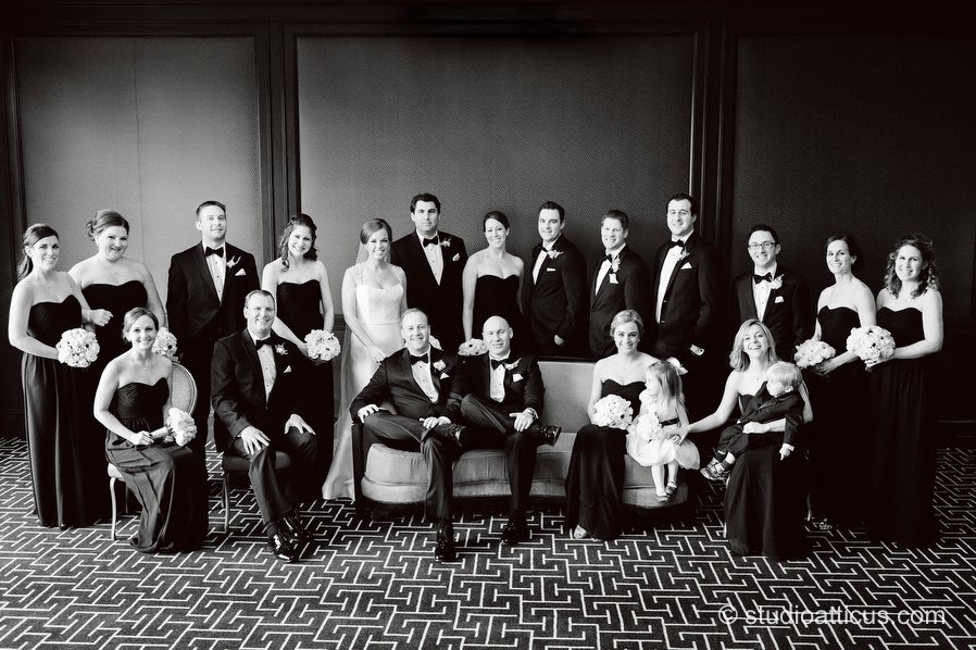Elegant wedding portraits at the Four Seasons Hotel in Boston.