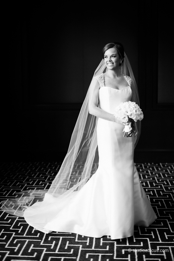 bridal portrait at the Four Seasons Hotel Boston.