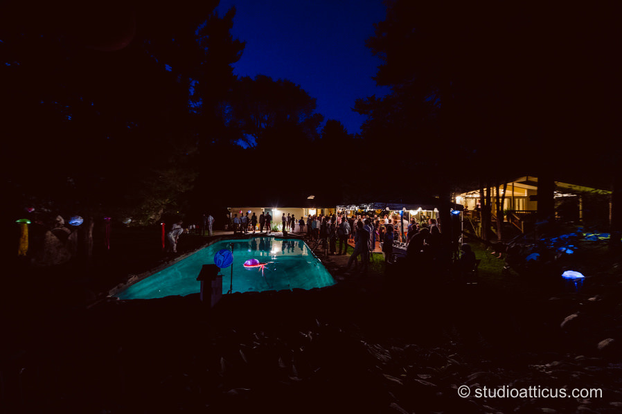 guests dance the night away at a backyard wedding coordinated by Mandy at Hummingbird Events and catered by Pennypackers. Concord MA wedding photographer