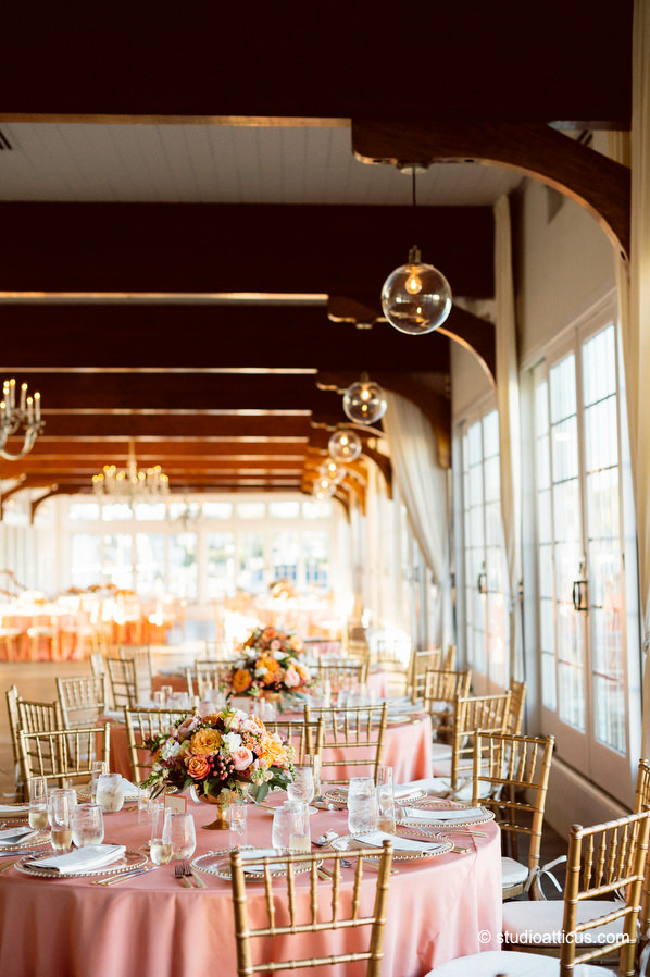 reception details at a cape cod wychmere beach club wedding
