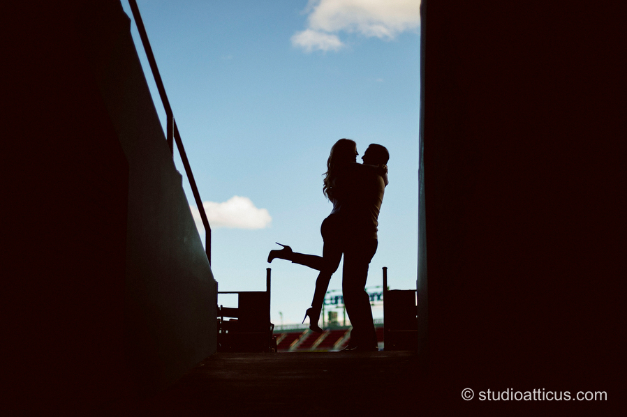 Boston Fenway Park engagement session