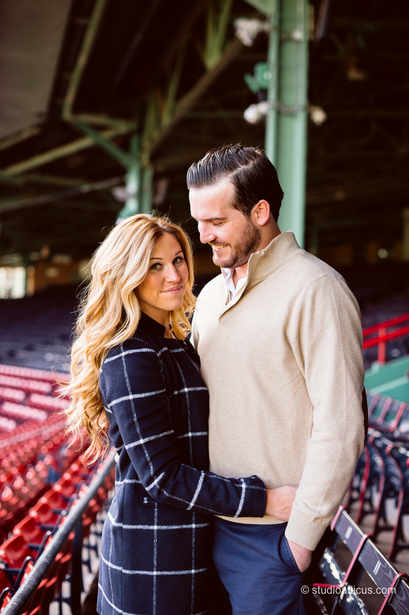 engagement session at Fenway Park in Boston