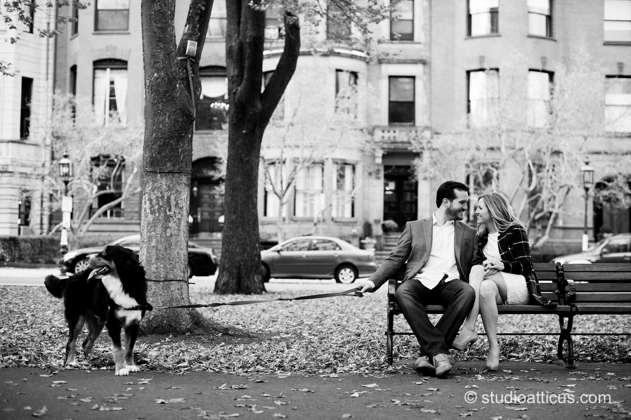 Engagement session on Commonwealth ave in Boston