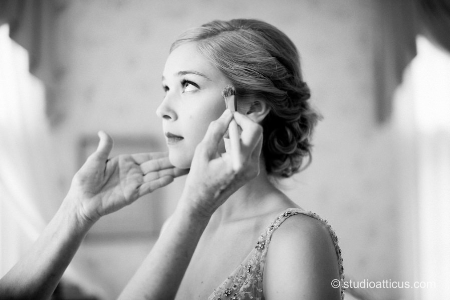The bride prepares for her destination wedding at the Hildene Estate in Manchester, VT