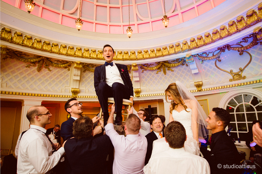 Hora In The Dome Room During A Lenox Hotel Wedding 042 043 044